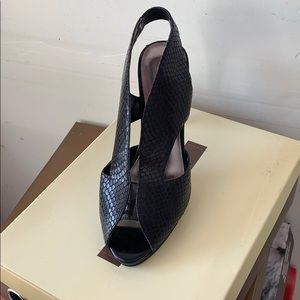 Black Heel with Snake Print By Audrey Brooke